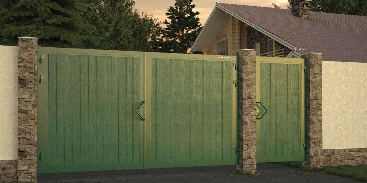 Ворота уличные распашные